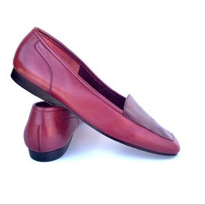 Enzo Angiolini Red Leather Loafers 6.5 M